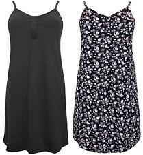 *NEW* Ex Evans Strappy Black Floral Secret Support Plus Size Nightie Nightdress