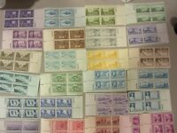 USA OLDER POSTAL LOT OF 25 DIFFERENT MNH 3 CENT PLATE BLOCKS  PO FRESH FREE SHIP