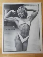WOMEN'S PHYSIQUE PUBLICATION female bodybuilding muscle/ELAINE CRAIG 9-84