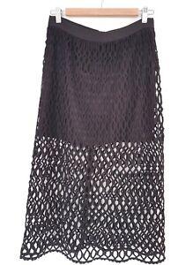 BNWT Bardot black mesh semi formal high waist skirt Aus UK size 12 RRP $ 99.99