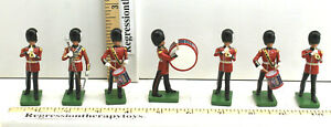 7pc Britain Metal Soldiers Queens Marching Band Regiment London England 1990