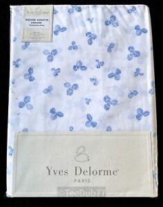 YVES DELORME King Size Duvet Cover 240 x 220 Blue Trefoil Shamrock BNIP