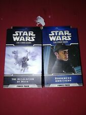 2 Star Wars The Card Game Force Packs Darkness and Light, The Desolation of Hoth