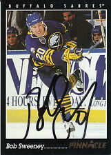 BOB SWEENEY SABRES AUTOGRAPH AUTO 93-94 PINNACLE #118 *8393