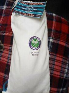 NEW RARE WIMBLEDON CHAMPIONSHIP OFFICIAL MENS TENNIS TOWEL 2020 purple