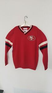 🔥🔥OFFICIAL SAN FRANCISCO 49ERS NFL MITCHELL NESS 2021 SWEATER MENS LARGE🏈