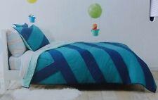Pillowfort Water Colors Blue Quilt + Sham Set ~ NEW Full/Queen