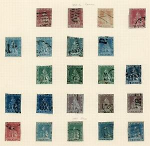 Italian States; Tuscany 1851-60 valuable seln of 39 used stamps, LOOK!