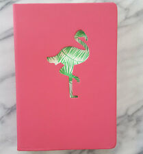 NEW Blank Journal  Inspiring PINK Diary By Eccolo CUTOUT FLAMINGO & PALM LEAVES