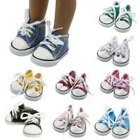 "Doll Clothes fits American Girl Hot 18"" Canvas Sneakers Gym Shoes Accessory New"