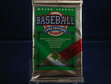 3 UNOPENED PACKS OF 1990 UPPER DECK BASEBALL LOW SERIES - 15 cards per pack