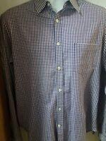 Theory Men's Plaid Long Sleeve Casual Dress Shirt.  Size Large.