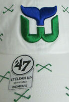 Hartford Whalers Strapback Hat Women NHL '47 Clean Up Brand Connecticut Cap