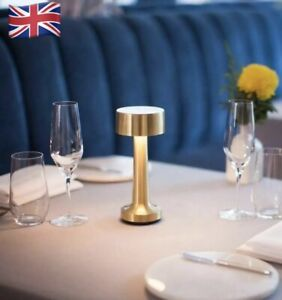 LED Table Lamp night light gold rechargeable battery restaurant hotel wireless