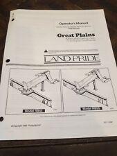 Land Pride Rear Blades Rb4596 Rb45108 Rb5596 Rb55108 Rb55120 Operators Manual