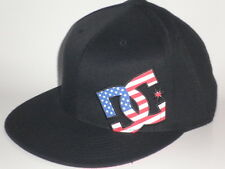 DC Shoes USA BOLDNESS Hat Black S/M ($30) NEW Flex Cap MOTO Snow Skate BMX Flag
