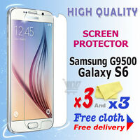 3 new High Quality Screen protection film foil for Samsung Galaxy S6