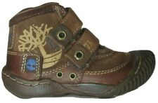 Boys Childrens Kids Infants Timberland Strap Canvas Leather Trainers UK 5  EU 22