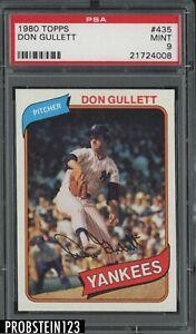 1980 Topps #435 Don Gullett New York Yankees PSA 9 MINT