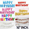 "Self Inflating 16"" INCH Foil Number & Letters BALLOONS Happy Birthday Ballons"