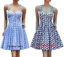Regular Size Linen Floral Dresses for Women