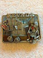 VINTAGE 1982 NEVADA BELT BUCKLE SISKIYOU BUCKLE CO INC WILLIAMS OREGON H-20