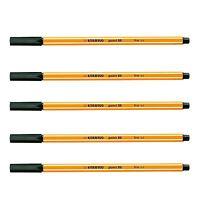 1 to 50 x STABILO POINT 88 BLACK FINELINER PENS ART DRAWING SCHOOL DESIGN FINE