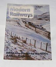 MODERN RAILWAYS MAGAZINE JANUARY 1980 - BR MOTIVE POWER FOR THE 1980S