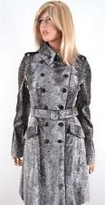 NEW KAREN MILLEN $699 CP047 FAUX PONY FUR INVESTMENT TRENCH COAT JACKET~4 8 36