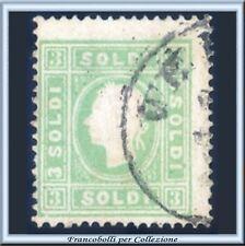 ASI 1862 Lombardo Veneto 2 s. verde giallo n. 35 Usato