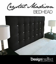CRYSTAL MADISON Upholstered Bedhead for Queen Ensemble - Ebony