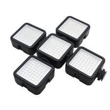 5x W49 LED Lampada a Luce video per videocamera Canon Nikon Pentax DSLR UK