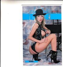electric BLUE Risque (Nude) Post Card