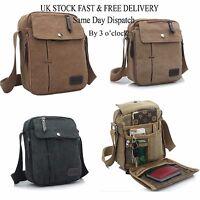 Vincenza Men's Retro Canvas Mini Messenger Travel Bag Crossbody Satchel Outdoor