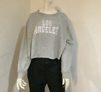 Women Aero Athletic Cut-Off Crew Sweatshirt. NWT