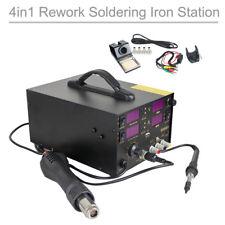 4in1 909D+ Heat Hot Air Gun Rework Station Soldering iron DC Power Supply 800W