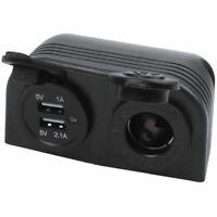 Dual Boat Caravan Car USB Cigarette Lighter Socket Splitter 12V Charger Ada O1J1