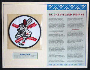 1975 CLEVELAND INDIANS ~ Willabee & Ward LOST TREASURES BASEBALL TEAM LOGO PATCH