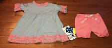 KicKee Pants Toddler Girl Strawberry Stripe Babydoll Set 3T New