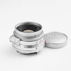 Leica SUMMICRON-M 35mm F2 v1 #165... 8 Element Infinity Lock Lens *Good*