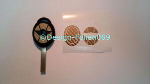 Carbon Gold Folie Dekor Schlüssel Key Cooper JCW S Mini R53 John Works