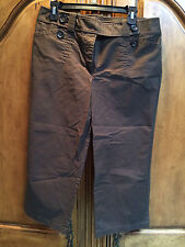 Ann Taylor Brown Lindsay Capri Pants Size 12