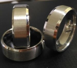 50pcs Top Quality SILVER Men's Band Wedding Rings 316L Stainless Steel Rings
