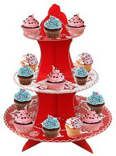 3 TIER CUP & FAIRY CAKE STAND CHRISTMAS PARTY BUFFET TABLE CENTRE PIECE DISPLAY
