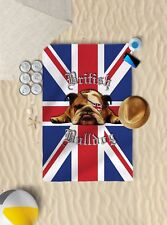 147cmx99.1cm Bulldog Británico Bandera Reino Unido Microfibra Toalla Playa Sol