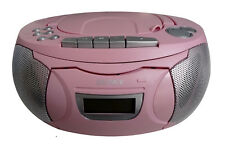 DENVER TCP-39 pink CD Player Kassettenspieler FM-Radio 2x1W Ghettoblaster B-WARE