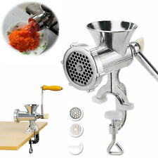 Manual Meat Grinder Table Multi Mincer Stuffer Sausage Pasta Filler Maker Crank