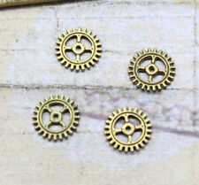 50pcs 10mm Antique Bronze silver Lovely Filigree Gear Charms Pendant