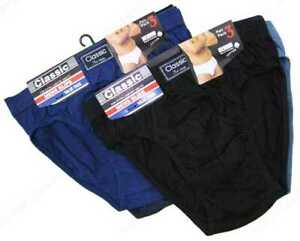 6 Pairs MENS CLASSIC SLIP BREIFS  Underwear Size S - 2XL