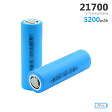2PCS RECHARGEABLE 21700 BATTERY LI-ION 3.7V 5200MAH MAX.35A HIGH DRAIN CELL E7C